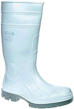 Panoply Viens2 White PVC Safety Wellington Boots Welly Wellies for Food Industry with Steel Toe Caps (UK 8/Euro 42)