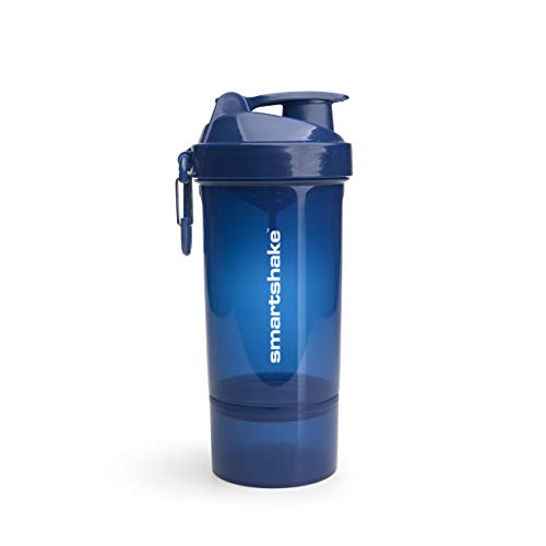 Smartshake Original 2GO One, 27 oz Shaker Cup, Navy Blue (Packaging May Vary)