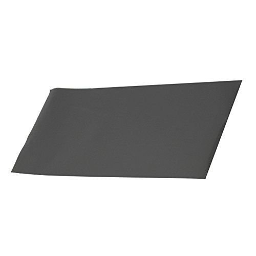 Black Heat Resistant Thin Silicone Grade Rubber Gasket Sheet 12 by 12 inch,1/25 Inch Thick