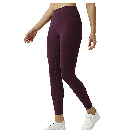 N\P Damen Yoga Hose Eng anliegend neunPunkt Fitness Pants Nude Yoga Pants Gr. M, violett