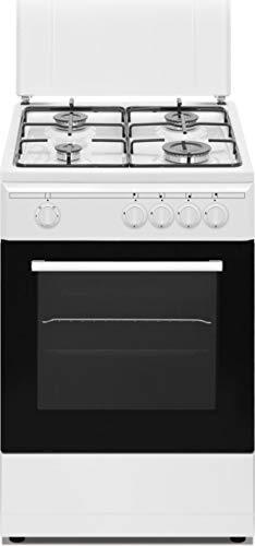 Nikkei SN554WG - Cucina a gas con forno a gas, 50x50 cm, colore Bianco