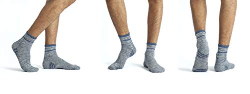 u&i Men's Mid Cut Athletic Premium Cotton Performance Socks 4 Pack