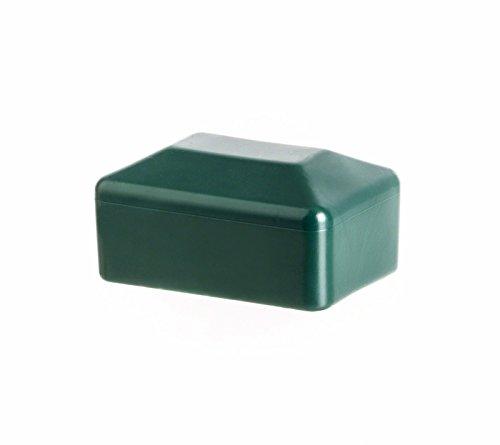 Bouchon pour tuyau carr/é 120x120 gris plastique Capuchon Bouchons 10 pcs