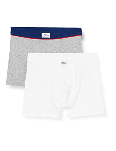 S.Oliver Kids Jungen Shorts im Doppelpack Boxershorts, Grau (Grey Mel. 1737), (Herstellergröße: 140) (2er Pack)