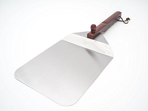 Allgrill Pizzaschaufel aus Edelstahl mit Holzgriff