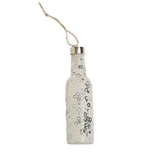 Batería de luz de botella, luz de botella colgante árbol de Navidad luminoso colgante árbol de Navidad luces LED decoración botella colgante decoración