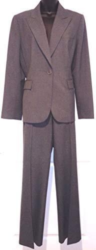 Grey Womens Professional Suit by Alex Marie Size 14, Comfortable/Professional Alex Marie Tan Suit Jacket & Wide Pant Legs, Grey 1 Button Blazer Jacket & Slacks, Alex Marie Womens Suit Size 14, In-Seam 32'