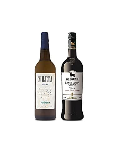 Vino Cream Zuleta de 75 cl y Vino Cream Santa Maria de 75 cl - Mezclanza Exclusiva