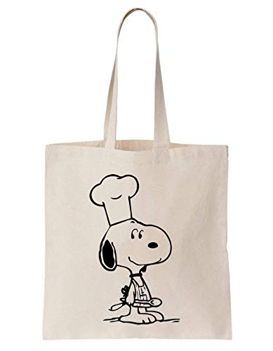 KRISSY Snoopy Chef Cooking Charlie Brown Schultertasche Tote Bag