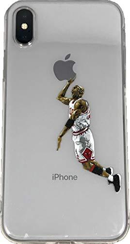 ECHC Hartschalen-Schutzhülle für iPhone (Basketballspieler), iPhone X, Jordan White