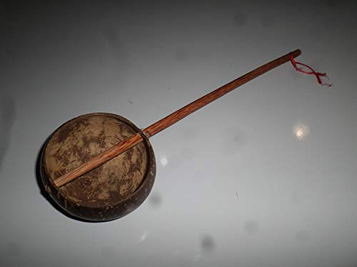 hand made coconut ladle water scoop dipper with coconut wood handle 15' long