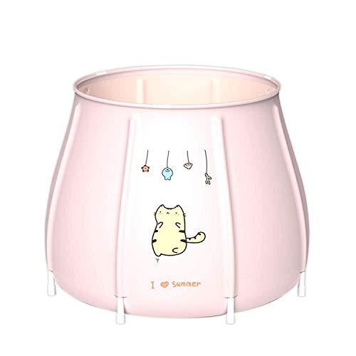WSJTT Bañera portátil, bañera plegable de pie, bañera ecológica para ducha, bañera ecológica para baño, bañera de hidromasaje ecológica (color rosa gato)