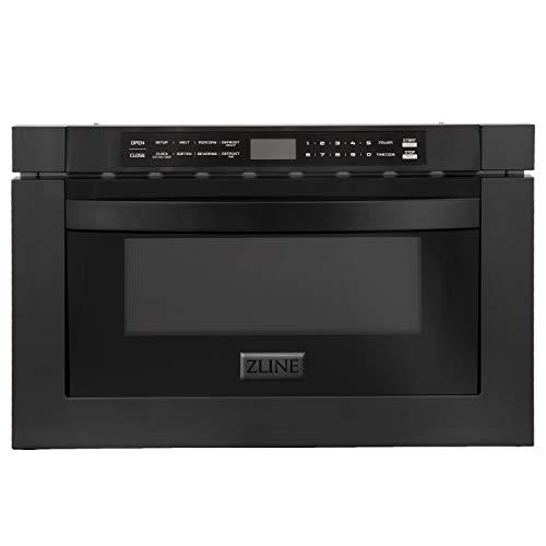 ZLINE 24' 1.2 cu. ft. Microwave Drawer in Black Stainless Steel