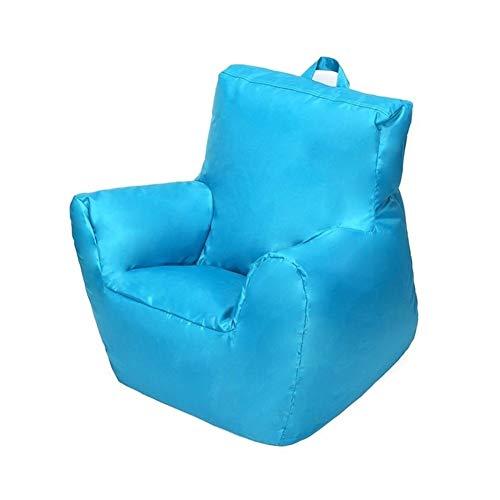 Datouya Living Room Children's Oxford Cloth Lazy Bean Bag Sofa Lying Seat Set Used to Organize Children's Plush Toys or Memory f (Colore : Blu, Spedito da : C)