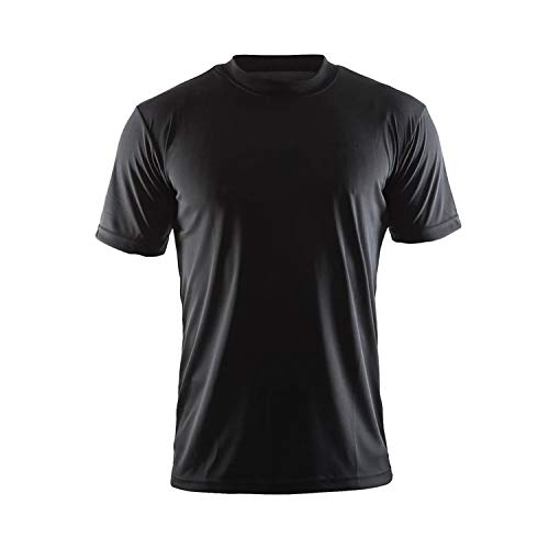 Craft Men's Essential Tee Dry-Fit Short Sleeve T-Shirt - Lightweight, Technical Men's Athletic Shirt Black 4X-Large