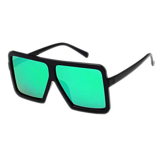 WERERT Gafas de Sol Deportivas,Retro Big Frame Mirror Cat Eye Sunglasses Women Designer Big Vintage Cheap Sun Glasses Female UV400