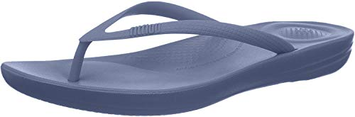 Fitflop Damen Iqushion Ergonomic Flip-Flops\' Zehentrenner, Blau (Blue 003), 42 EU