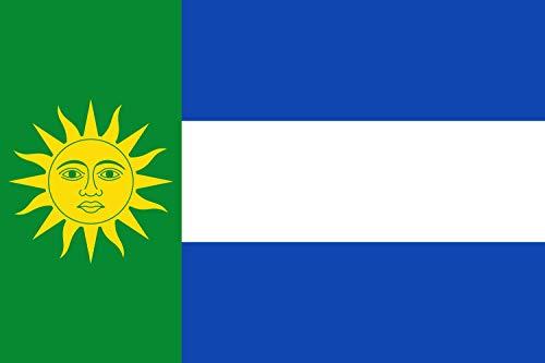 magFlags Bandera Large Rectangular de Proporciones 2/3, el tercio Junto al asta de Color Verde | Bandera Paisaje | 1.35m² | 90x150cm