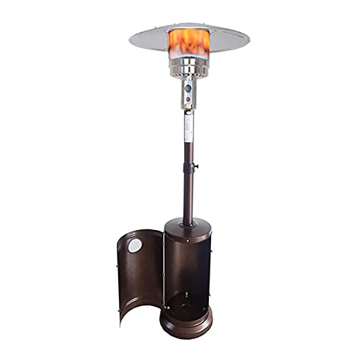 HOME UK Estufa Exterior Terraza, Estufa Seta de Gas, Estufa Tipo Seta de Gas GLP para Exteriores, Estufa de Gas para Exterior, Válvula Inclinación Apagado Automático, para Terrazas, Jardines