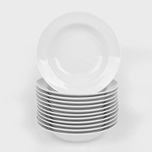 Holst Porzellan BL 023 FA1 Vorteilspack 12er Set Suppenteller 23 cm