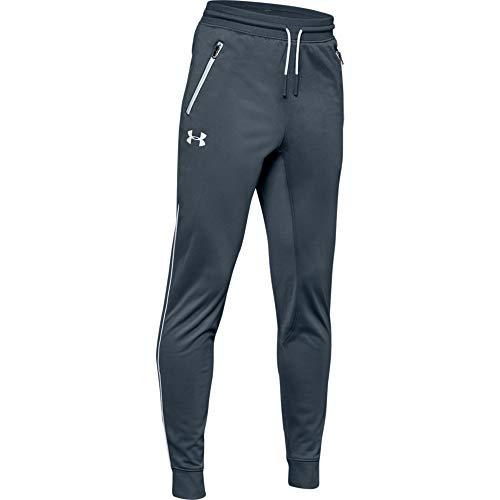 Under Armour - Fitness-Hosen für Jungen in Grau, Größe S-M
