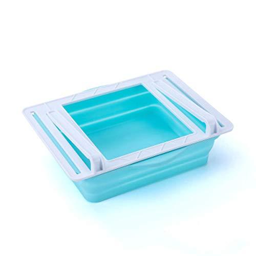 LACKINGONE - Organizador de frigorífico de plástico, cajón plegable, caja de almacenaje de frigorífico para frutas, verduras, postres