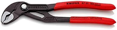 Foto di KNIPEX 87 01 180 Cobra® Pinza regolabile di nuova generazione per tubi e dadi bonderizzata grigia rivestiti in resina sintetica antiscivolo 180 mm