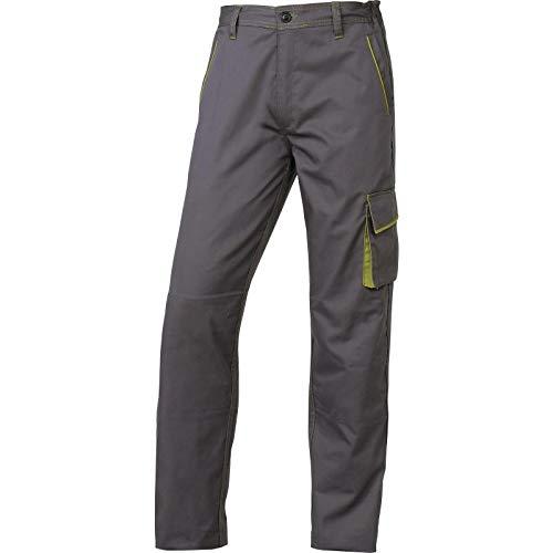 Delta plus - Pantalon panostyle poliester algodón gris/verde talla xl