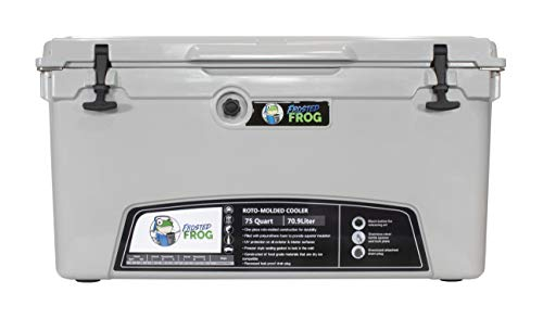 Frosted Frog Gray 75 Quart Ice Chest Heavy Duty High Performance...