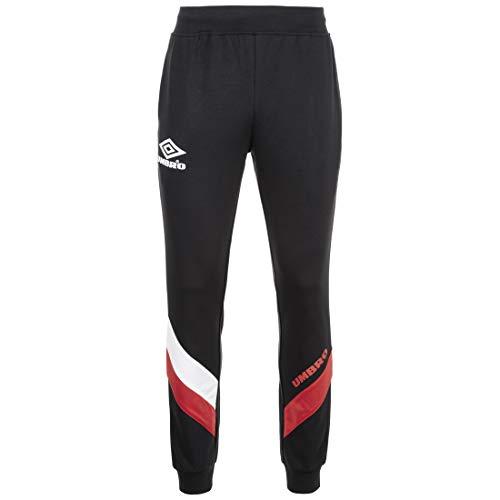 Umbro Herren Sector Jogpant Trainingshose, Schwarz/Weiß, XL
