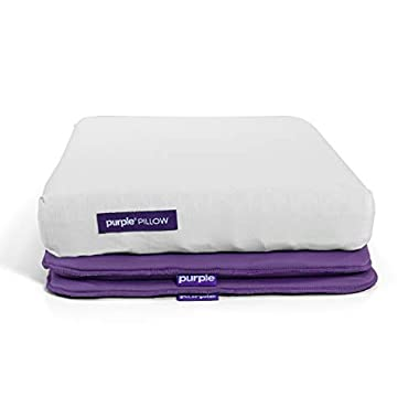 Purple The Pillow, Cooling Cradling Neck Support with Adjustable Height Boosters