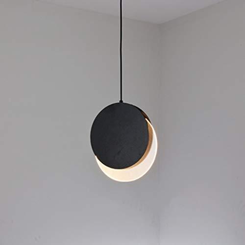 XJJZS Lámpara de araña de Metal pequeña, Modelo Dorado Simple habitación Restaurante cafetería lámpara de cabecera de una Sola Cabeza