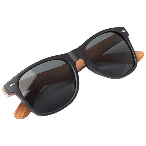noTrash2003 Gafas de sol con montura de plástico y patillas de bambú, protección UV 400, diseño clásico