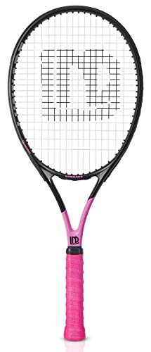 LUNNADE Adults Tennis Racket 27 Inch, Shockproof Carbon Fiber Tennis Racquet Light-Weight, Pre-Strung and Regrip, Suitable for Beginners to Intermediate Players