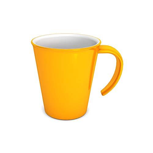 Ornamin Kaffeepott 300 ml gelb (Modell 1201) / Kaffeebecher, Mehrwegbecher Kunststoff