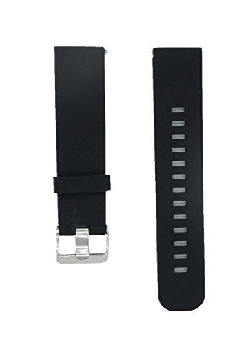22mm Reemplazo liberación rápida Correa de reloj silicona pulsera para Pebble Time / Pebble Time Steel / Asus Zenwatch 1st 2nd / Moto 360 2nd Men's 46mm negro