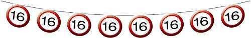 Folat Guirlande de Signalisation 16ème Anniversaire 12m