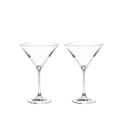 Leonardo Cocktailschale La Perla, braun, 2-er Set, 330 ml, farbig-gezogener Stiel, spülmaschinenfest, Teqton-Glas, 018970