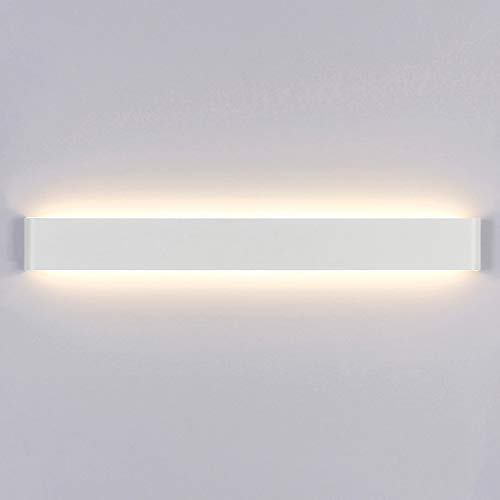 Yafido Aplique Pared Interior LED 90CM Lámpara de pared 30W 3000K Blanco Cálido para Salon Dormitorio Sala Pasillo Escalera AC 220V