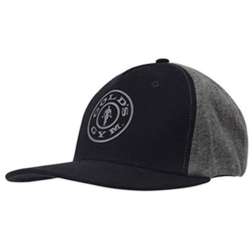 Gold's Gym - Gorra de béisbol con logo icónico, color negro y gris