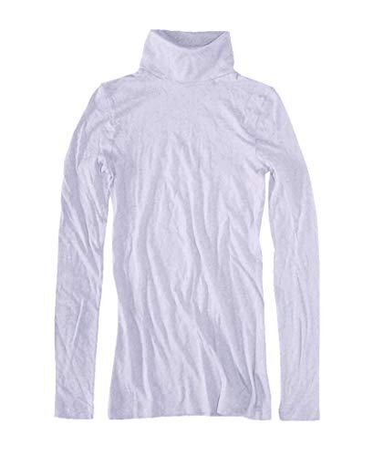 J.Crew Mercantile Damen Solid Lightweight Turtleneck T-Shirt Hemd, Lichtdistel, XX-Small