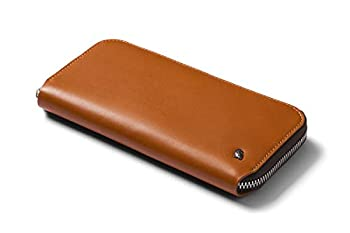 Bellroy Folio  Premium Leather Coin Purse Zipper Closure RFID Protection Holds 10-14 Cards Flat Note Section Magnetic Coin Pouch  - Caramel