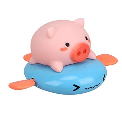 TOYANDONA Juguete para tirar de los niños, figura de cerdo, animales de baño, juguete para bañera, juguete para tirar, mecanismo de juguete, figura decorativa para niños pequeños (color aleatorio)
