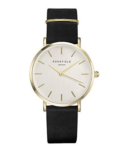 Rosefield Damen Digital Uhr mit Leder Armband WBLG-W71