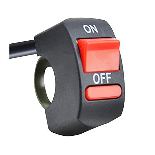 Controla el Interruptor de la luz Motocicleta Encendido Apagado Conector de botón Interruptor de botón Push Botón Motocicleta Manillar Interruptores DC12V / 10A para manillares