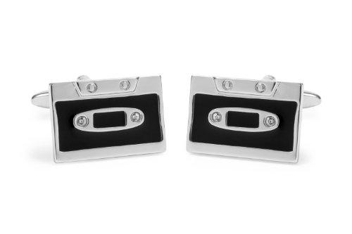 Sologemelos - Boutons De Manchette Cassette - Noir - Hommes - Taille Unique