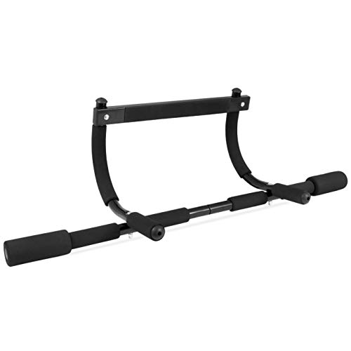 "ProsourceFit Multi-Grip Lite Pull Up/Chin Up Bar, Heavy Duty Doorway Upper Body Workout Bar for Home Gyms 24""-32"" (ps-1240-cu-basic), Black"