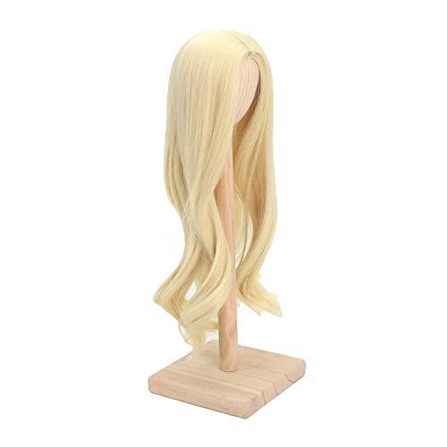 1/4 BJD Doll Wig Heat Resistant Fiber Long Wave Curly Light Blonde Doll Hair BJD Doll Wig for 1/3 1/4 1/6 1/8(88#,1/4) Iowa