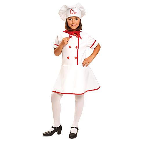 Dress Up America Disfraz de Cocinero niñas, Multi Color 786138801954, Talla 8-10 años (Cintura: 76-82, Altura: 114-127 cm) para Hombre