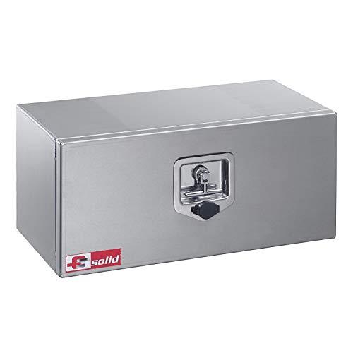 FTsolid 30l Unterflurbox aus Alu Anhängerkiste Staubox Gurtkiste Werkzeugkiste Staukasten Unterbaubox Box